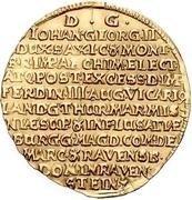 2 Ducat - Johann Georg II. (Vicariat) – revers