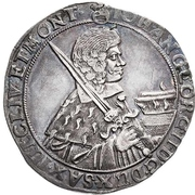 ½ Thaler - Johann Georg II. – avers