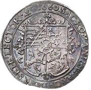 ½ Thaler - Johann Georg II. – revers