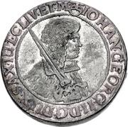 1 Thaler - Johann Georg II. (Dicktaler) – avers