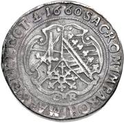 1 Thaler - Johann Georg II. (Dicktaler) – revers