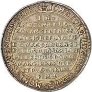1 Thaler - Johann Georg II. (Death) – avers