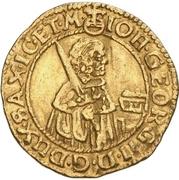 ½ Ducat - Johann Georg II. – avers