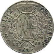 ⅓ Thaler - Friedrich August III – revers
