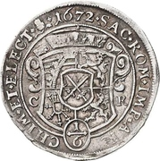 ⅙ Thaler - Johann Georg II. – revers