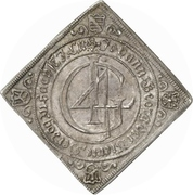 1 Thaler - Johann Georg II. (Klippe; Birth) – avers