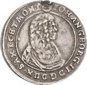 ¼ Thaler - Johann Georg II. (Wechseltaler) – avers