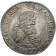 1 Thaler - Johann Georg II. (Wechseltaler) – avers