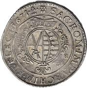 1 Thaler - Johann Georg II. (Wechseltaler) – revers