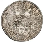 1 thaler Johann Friedrich II – revers