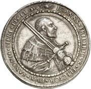 2 thaler Johann Friedrich – avers