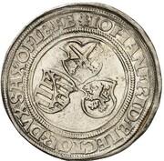 ½ guldengroschen Johann Friedrich der Großmütige et Georg – avers