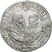 1 thaler Johann Friedrich, Heinrich et Johann Ernst – revers
