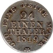 1/24 Thaler - Friedrich August I – revers