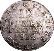 1/12 Thaler - Friedrich August I – revers