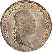 ⅓ thaler Friedrich August I – avers