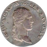 ⅔ Thaler, 1 Gulden - Friedrich August I – avers
