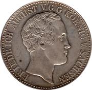 1 conventionsthaler Friedrich August II – avers