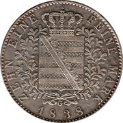 1 conventionsthaler Friedrich August II – revers