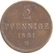 2 Pfennige - Johann – revers
