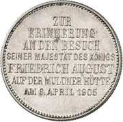 2 Mark - Friedrich August III (Mint Visit) – revers