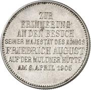 2 Mark - Friedrich August III (Mint Visit) – revers