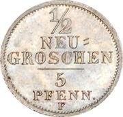 ½ Neugroschen - Friedrich August II – revers
