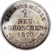 1 Neugroschen - Johann – revers