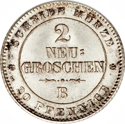 2 Neugroschen - Johann – revers