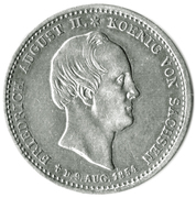 ⅙ Thaler - Friedrich August II – avers