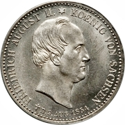 ⅓ Thaler - Friedrich August II – avers