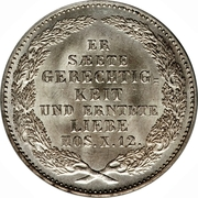 ⅓ Thaler - Friedrich August II – revers