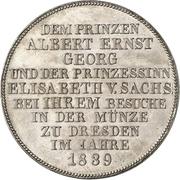1 Thaler - Friedrich August II (Atelier de Dresde) – revers