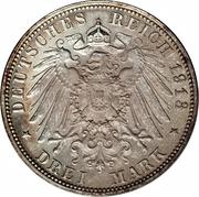 3 Mark - Friedrich August III -  avers