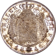 1 Thaler - Friedrich August II – revers