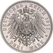 3 Mark -  Friedrich August III – revers