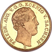 2½ Thaler - Friedrich August II – avers