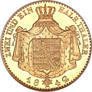 2½ Thaler - Friedrich August II – revers
