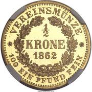 ½ Krone - Johann – revers