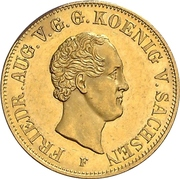 10 Thaler - Friedrich August II – avers