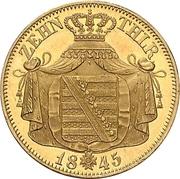 10 Thaler - Friedrich August II – revers