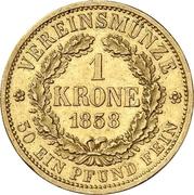1 Krone - Johann – revers
