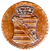 1 pfennig Friedrich August I – avers