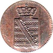 1 Pfennig - Friedrich August II – avers