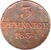 3 Pfennig - Anton – revers