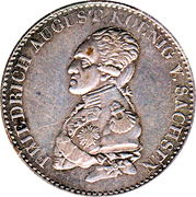 ⅓ thaler Friedrich August I – avers