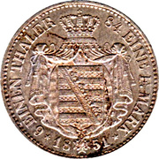 ⅙ Thaler - Friedrich August II – revers