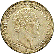 1 Thaler - Friedrich August II – avers