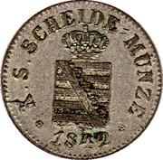 1 Neugroschen - Friedrich August II – avers