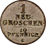 1 Neugroschen - Friedrich August II – revers